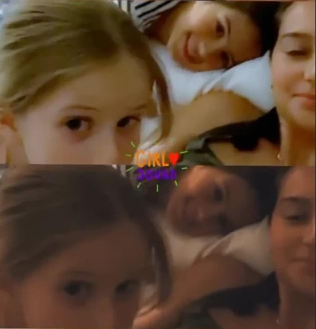 Missing his daughters: Bruce Willis should miss his young daughter's birthdays (photo above with their mother Emma Hemming) while he continues to isolate himself with his ex Demi Moore