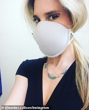 Social media users have shared their own DIY bra masks, using a single bra cup as the 'mask' and a strap — cut and re-sewn — as the strap around the back of the head