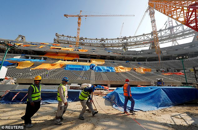 Construction work is still going on for World Cup in Qatar but coronavirus could cause issues