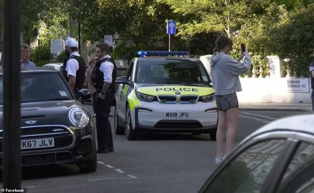 The officers who had been patrolling the west London street told the family that their ensemble might cause more residents to flout the lockdown measures