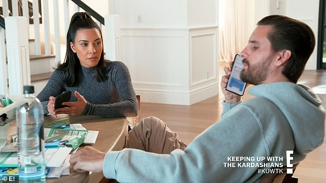 Deceased parents: While Kim was visiting him at home, Scott told him that his children had recently wondered about his deceased parents, Bonnie and Jeff Disick, and that he had found it difficult to cope with them.