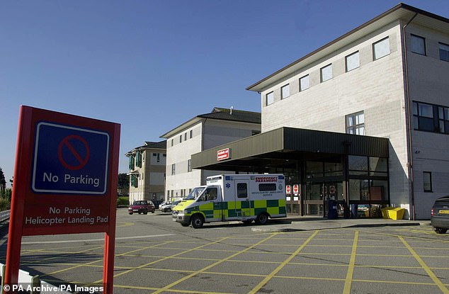 The Royal Cornwall Hospitals Trust laid off the staff as only 50 per cent of its beds are full. Pictured above is the Royal Cornwall Hospital in Truro. The trust operates two others
