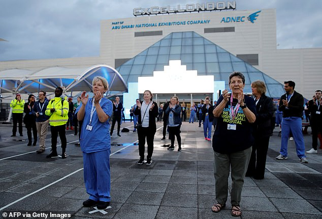 There have been reports of NHS Nightingale in London, pictured, turning away patients due to a lack of staff