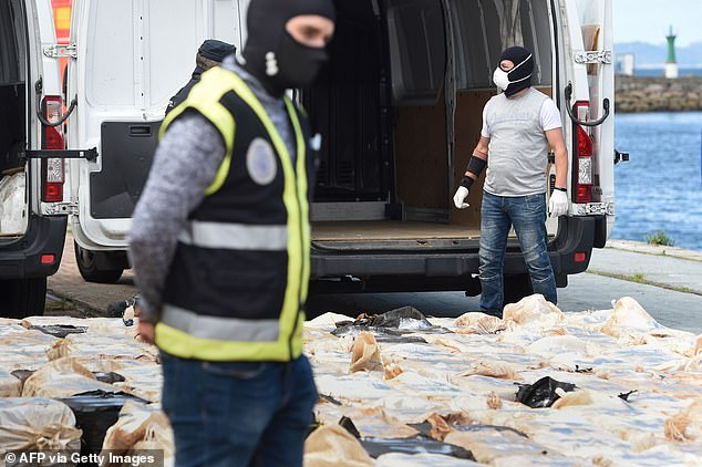 The Spanish military seized 4,000 kilograms of cocaine on April 25 which had been sent from Venezuela by ship