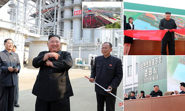 Kim Jong-Un makes first public sighting in a while at fertiliser plant