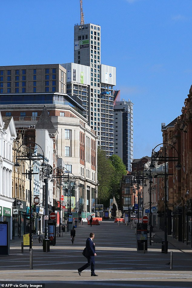 LORD SUMPTION: The lockdown is without doubt the greatest interference with personal liberty in our history (pictured, a deserted Leeds city centre, May 2, 2020)