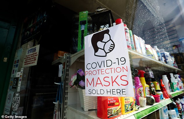 The professor said the locks `` can apply to parts of a country, or even an entire country '' during a future epidemic (photo, Aylesbury store selling face masks, May 1 2020)