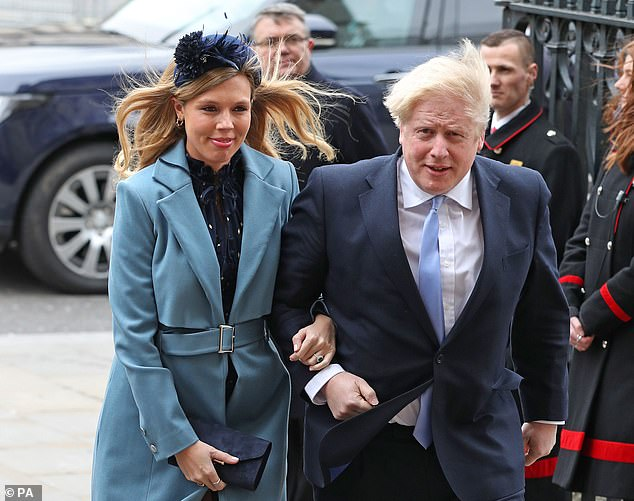 Carrie Symonds (photo of March 9) revealed the names of her newborn son and Boris Johnson as Wilfred, after the Prime Minister's grandfather