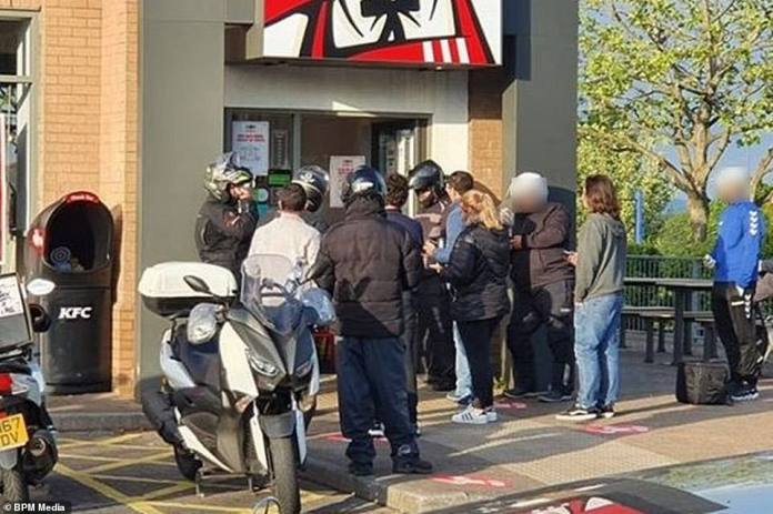 KFC launched investigation after photos of delivery men ignoring social distancing measures at their recently opened Filton restaurant in Bristol