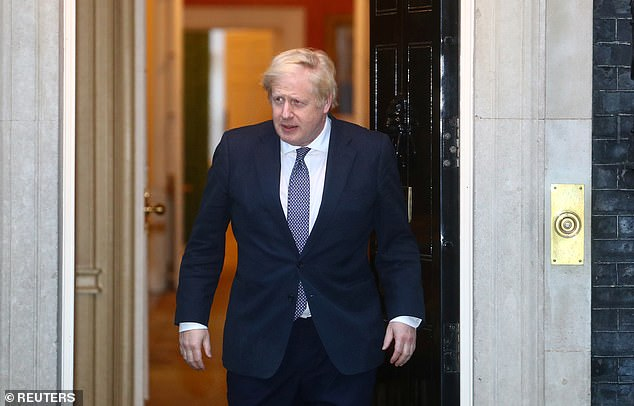 Boris Johnson (pictured outside number 10 last week) said Thursday that Britain is 'starting to turn the tide' against the epidemic