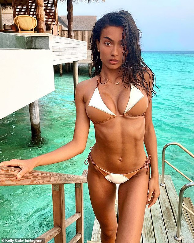 Oops! Kelly stunned fans by posing in a nude-toned bikini, giving some the optical illusion that she was unclothed. Her swimwear was actually blended in with her skin tone