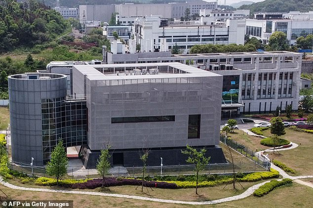 Pompeo doubled down on his allegations that the COVID-19 virus originated at the Wuhan Institute of Virology (pictured) during an ABC News interview on Sunday, saying: 'I can tell you that there is a significant amount of evidence that this came from that laboratory in Wuhan'