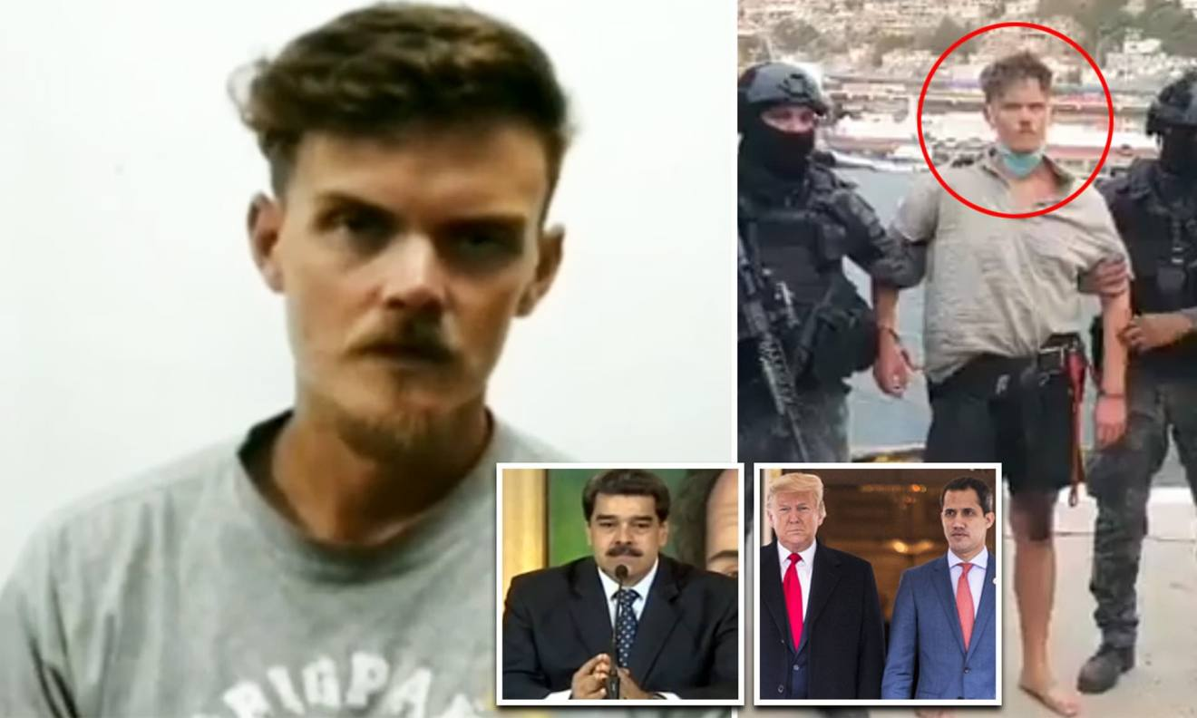 US hostage Luke Denman is paraded on Venezuelan TV | Daily Mail Online