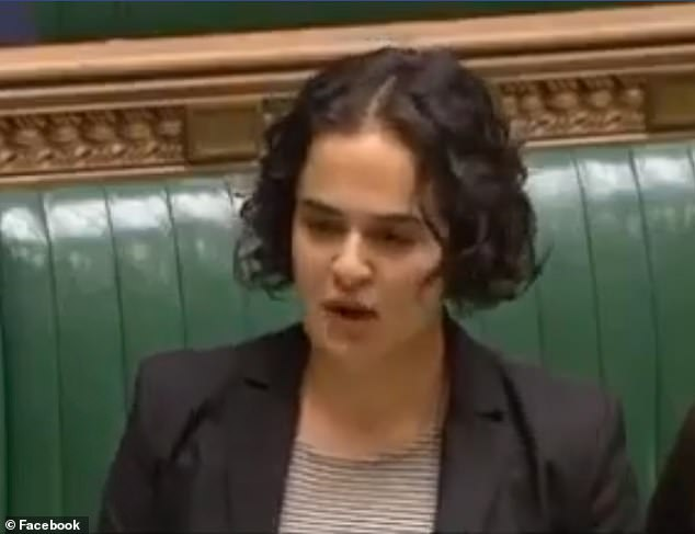 Nadia Whittome, Labour MP for Nottingham East (pictured in parliament) has been vindicated by Lark Hill Retirement Village four months after she was sacked from the care home