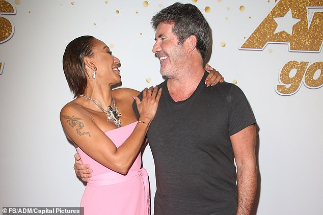 Other reports claimed that Silverman had become suspicious that her husband (right) was having an affair with fellow America's Got Talent judge Mel B (left)