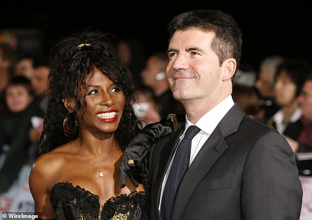 Long-term companion Sinitta (left) was left distraught when Cowell got Silverman pregnant as it meant she had lost him