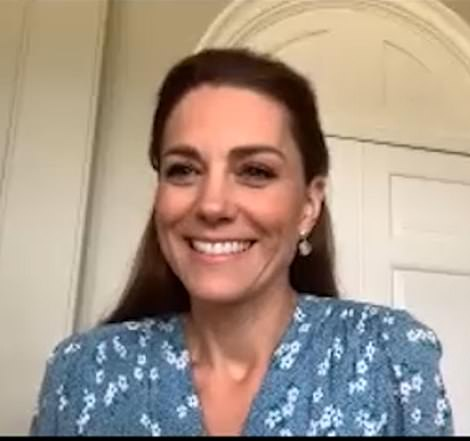 Both Kate and Prince William, 37, have continued to support charities and organisations close to their hearts despite the UK's lockdown amid the coronavirus pandemic.Last week the Duchess paid a 'morale-boosting' virtual visit to a maternity unit in Kingston - where she previously spent two days on a work placement - last week, gushing her congratulations to stunned new mother Rebecca Attwood (pictured)