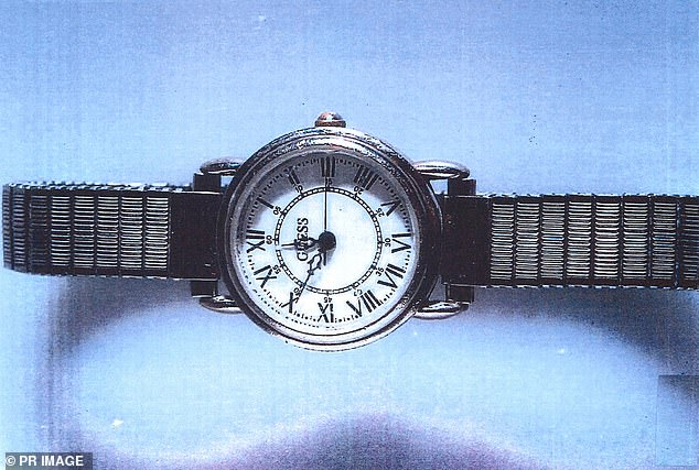 Jane Rimmber disappeared from Claremont on June 6, 1996 and her body was found in bushland about 40km south of Perth. This watch belonging to Ms Rimmer was found near her remains