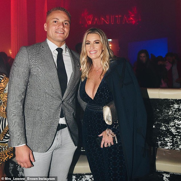 Pair: Brown, who stars on ITV show The Real Housewives of Cheshire, poses with husband Wes