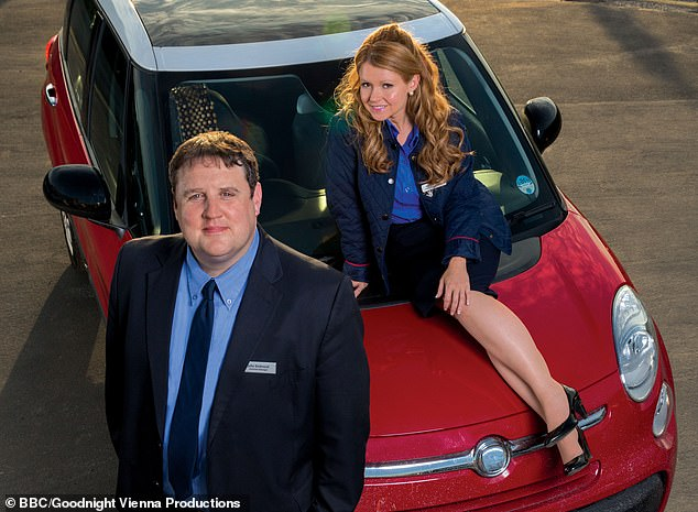 Thrilling: Kay records the audio-only version of Car Share with her co-star Sean Gibson in April 2020