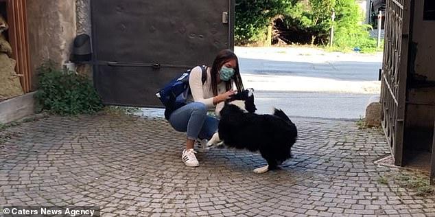 Fabrizio Bottamedi Aly's dog is very close to his girlfriend Jessica Cristofolini, from Mezzocorona, Italy