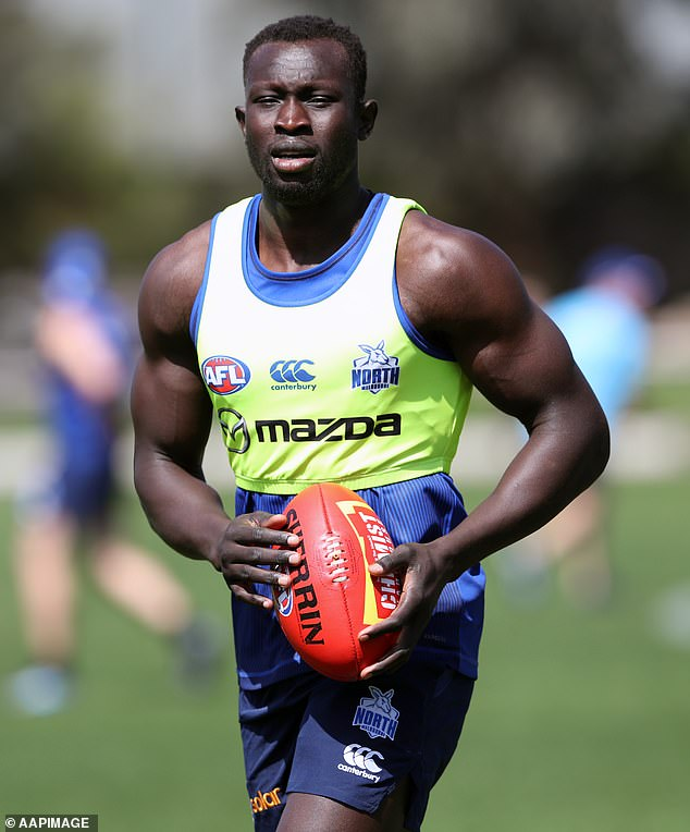 Despite the new setback, Daw said he is still hungry to return to the AFL. Pictured: Daw training in Melbourne in November 2019