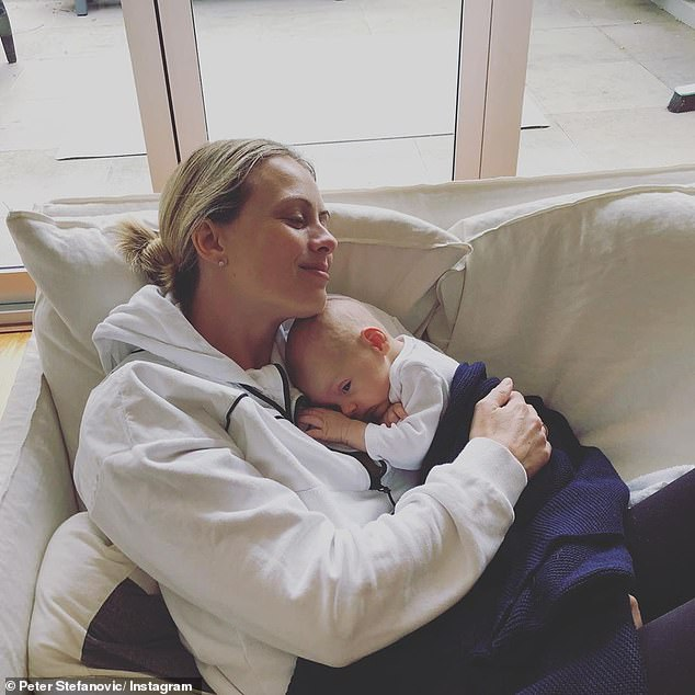 'It feels kind of strange': Sylvia told 9Honey that she is still getting used be calling herself a mother. 'It is kind of special to be celebrating as a mum, it still feels surreal to be calling myself a mum,' she said