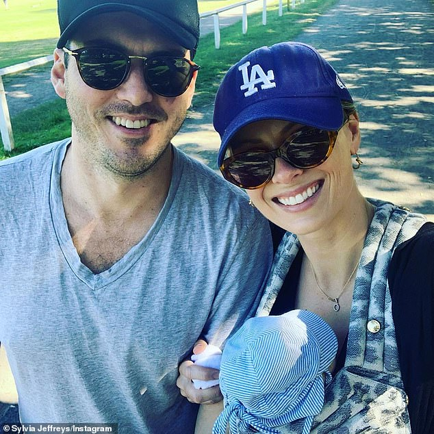 'It sort of feels like the whole world is on maternity leave': The journalist also revealed that she and husband Peter Stefanovic (left) have been enjoying their 'little bubble' as new parents as people continue to stay at home amid the coronavirus pandemic