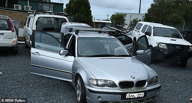 Pictured: Mr Stott'ssilver BMW which he abandoned on a highway in northern NSW