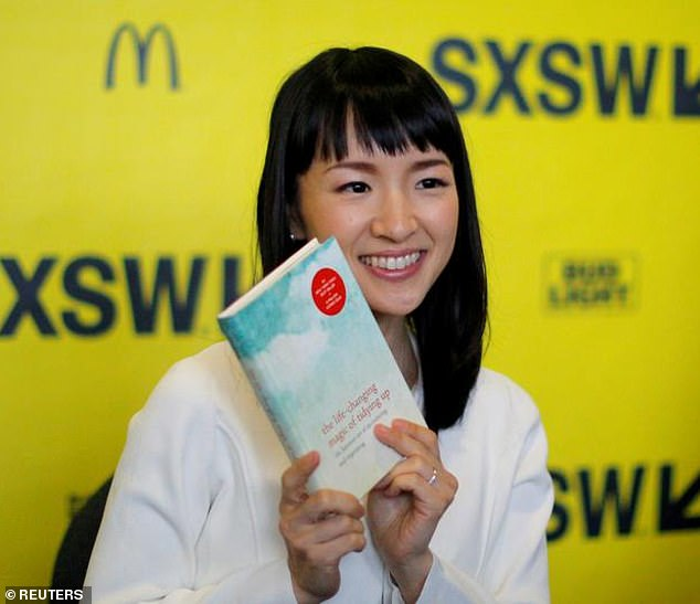 No mess: Marie Kondo, caught in Austin in 2017, has not entered the online fray