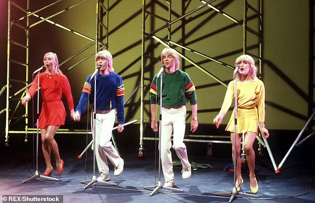 Icons:The eighties pop group are now renamed The Fizz and sold more than 50 million records during their heyday before disbanding in 1988, two-years after the release of their final album - Writing On The Wall [pictured at Eurovision 1981]
