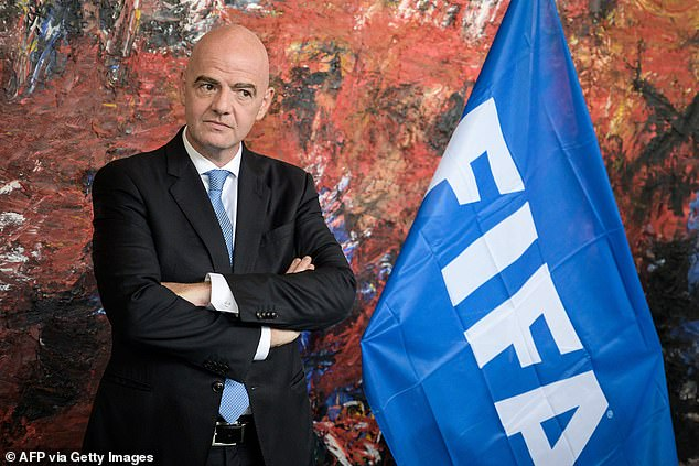 FIFA (pictured, president Gianni Infantino) are at loggerheads with UEFA as they look to arrange an extended international break