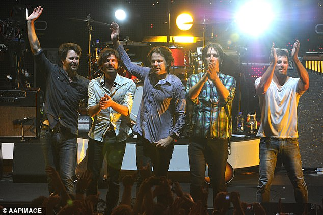Farewell!Powderfinger split in 2010, after playing their final show in Brisbane (pictured then)