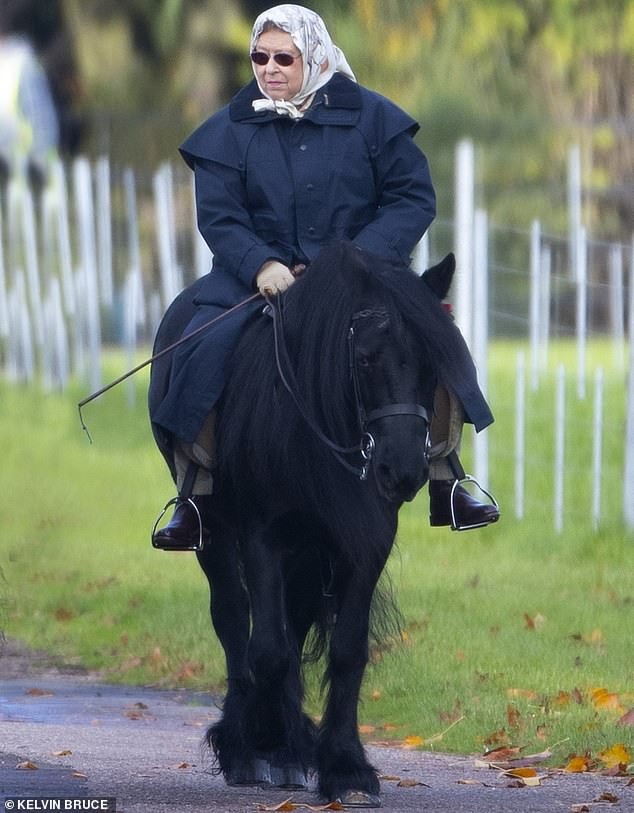 Queen, 94, rides daily and `` makes the most of her time in quarantine, '' but is determined to return to public office and `` work harder than ever, '' royal sources say.