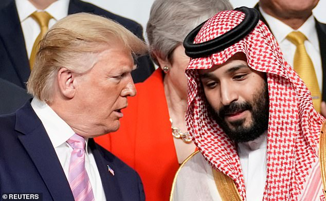 President Donald Trump with Saudi Crown Prince Mohammed bin Salman, who would become the ultimate owner of Newcastle if his state fund took control of the club