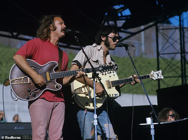 Rocky road: They separated for the first time after a tumultuous tour in 1970 and over the years, they met from time to time, often gathering only two or three of the members at a time