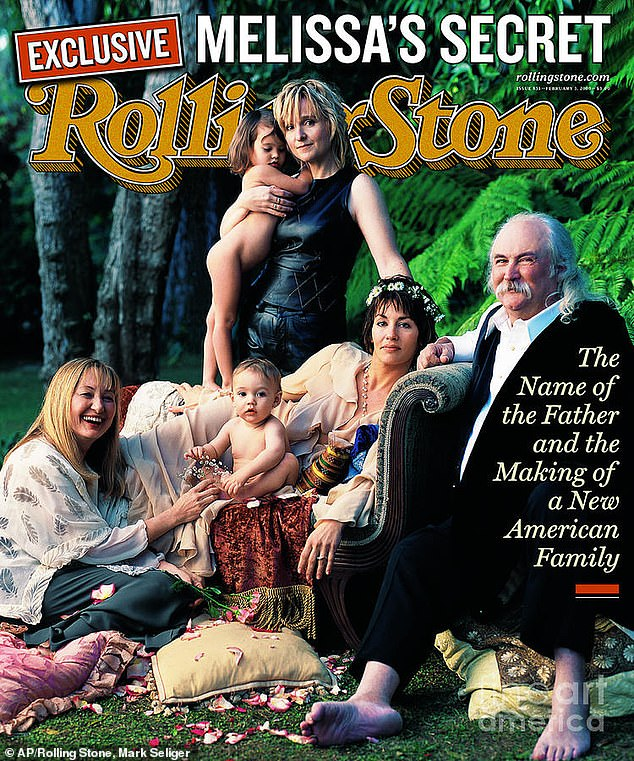 Modern family: Crosby donated sperm to Etheridge and ex-partner Julie Cypher so they could conceive Beckett and his sister Bailey, something the non-traditional family revealed in a 2000 issue of Rolling Stone