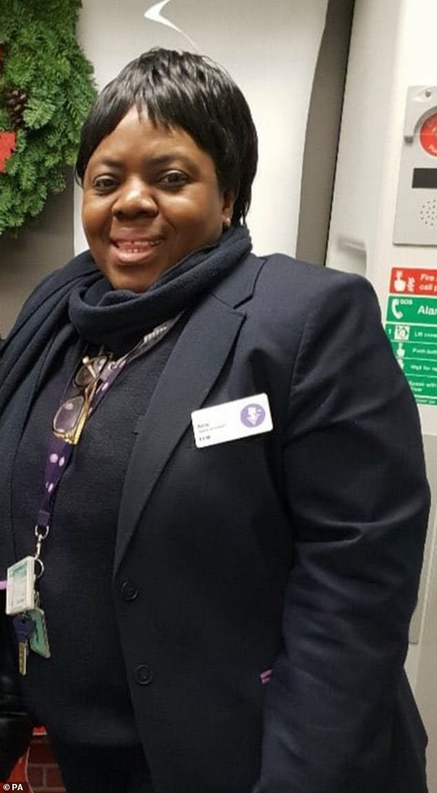 Ms. Mujinga (photo above) had asked to work inside, behind the glass screens of the ticket office. However, for reasons that remain unclear, she was sent outside to work in the hall without PPE. And then the unimaginable happened