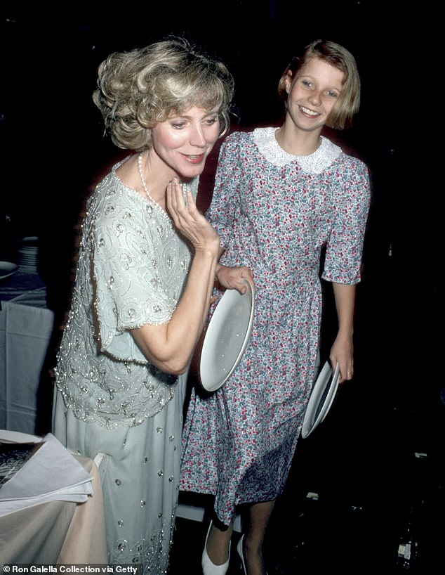 Famous family: Paltrow is the daughter of actress Blythe Danner, seen with mom at Studio 54 at only 13 years old