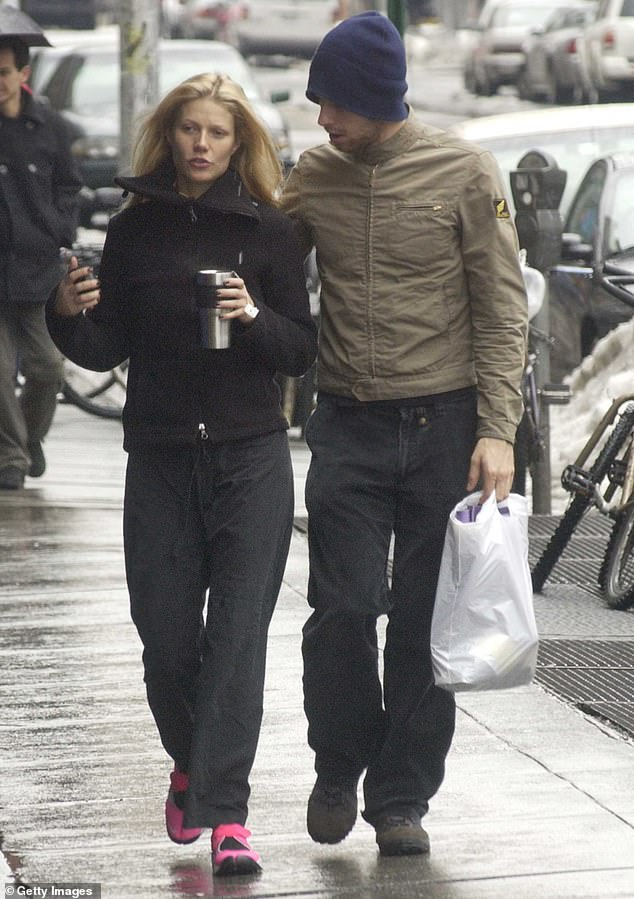 Exes: Paltrow and ex Martin started dating in 2002 and they married in 2003. They are seen in 2003 above