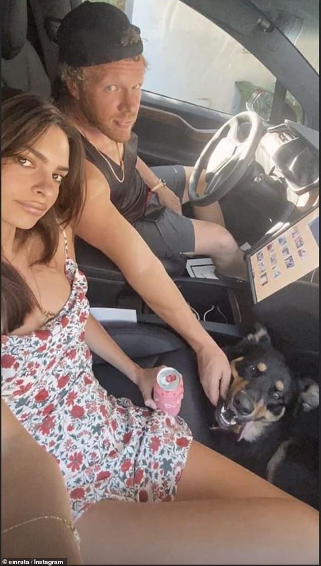 Bi-coastal: Ratajkowski and husband Sebastian Bear-McClard relocated their home quarantine from New York City to Los Angeles last week