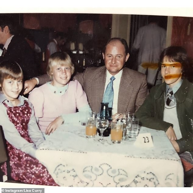 Cycle of Abuse: The former Ironwoman explained in detail how she saw her late father Roy (center pictured) hitting her mother Pat `` for years ''. We also see Lisa (center), her sister Melanie and her brother Scott