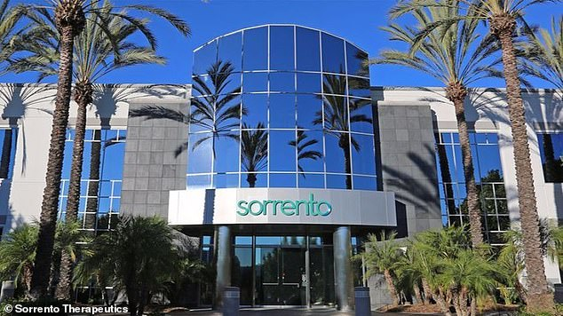 San Diego-based Sorrento said it can start making 200,00 doses of its antibody a month while awaiting FDA approval f