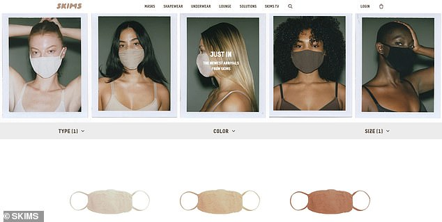 Getting into trends: reality star Kim Kardashian on Saturday unveiled a new collection of fashionable masks in a timely fashion, inspired by his Skims Solutionwear line