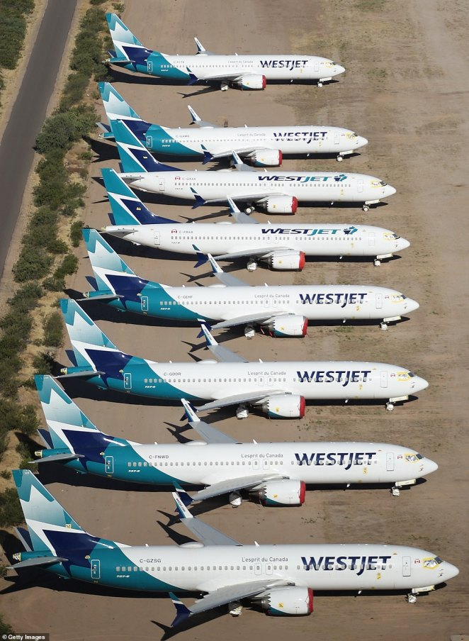 Canadian airline WestJet had its 737-MAX aircraft stored at the airpark even before the current health crisis