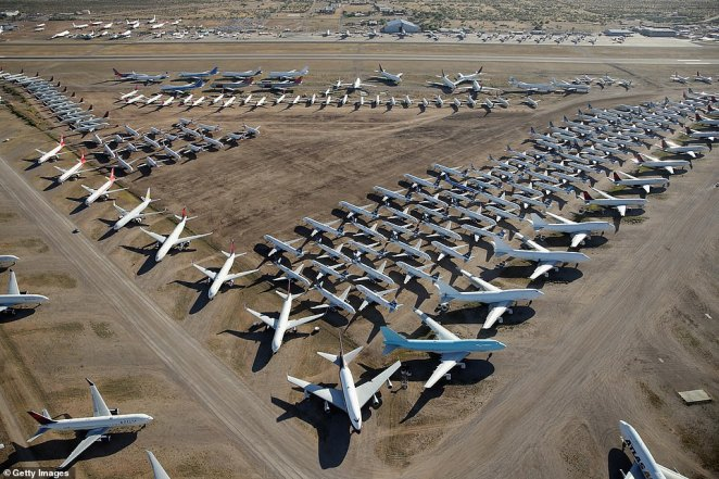 Pinal Air Park is not just a parking lot for the aircraft - airlines are paying not only for the parking spots and for technicians to ensure that the planes are ready to go the moment they're needed again