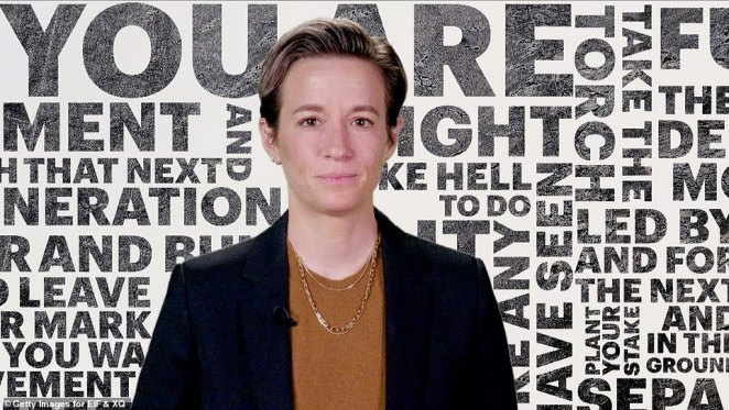 Rock the vote: Megan Rapinoe used her speech to encourage grads to vote: 'For many of you, this year will be the first time you cast a ballot. I urge you not to miss the importance of who makes the decisions in times of crisis and in times of triumph'