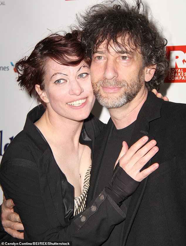 Gaiman (pictured with Palmer in 2013) sparked outrage after he travelled 11,000 miles from New Zealand to the Isle of Skye to get 'some space' from his wife