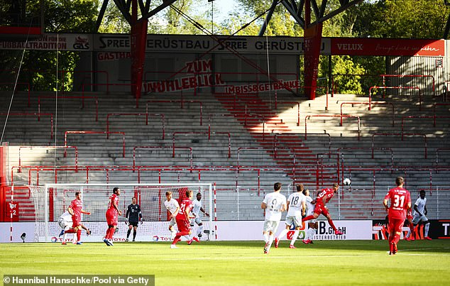 The match formed part of day two of the Bundesliga's restart without fans in the stadiums