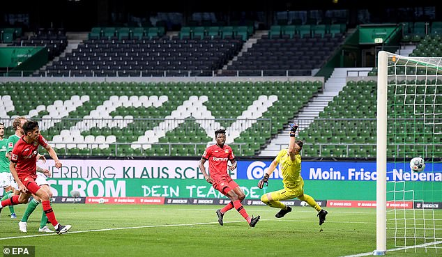 Havertz proved a thorn in the side of Werder Bremen as Leverkusen ran out 4-1 winners